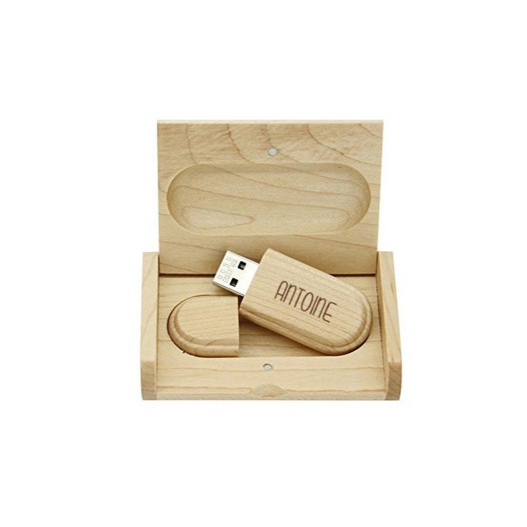 Clé Usb cadeau coffret ecrin en bois gravé 8 go, graveur amalgame grenoble  Connect - Voir en grand