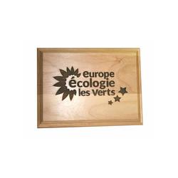 Authentique plaque en bois gravé, véritable aux bords biseautés, graveur amalgame grenoble - Voir en grand