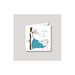 Faire part mariage turquoise, invitation moderne Charlety, amalgame print grenoble
