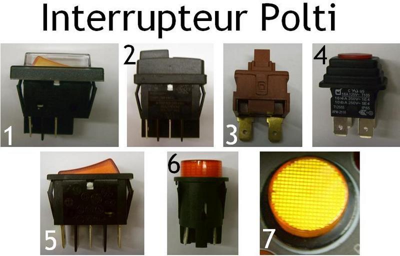 Interrupteur Polti - Pièces détachées Polti - Pièces détachées et accessoires Polti - MENA ISERE SERVICE - Pièces détachées et accessoires électroménager - Voir en grand