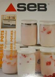 Pots en verre la Yaourtière Seb couvercle - Pièces détachées et accessoires Seb - MENA ISERE SERVICE