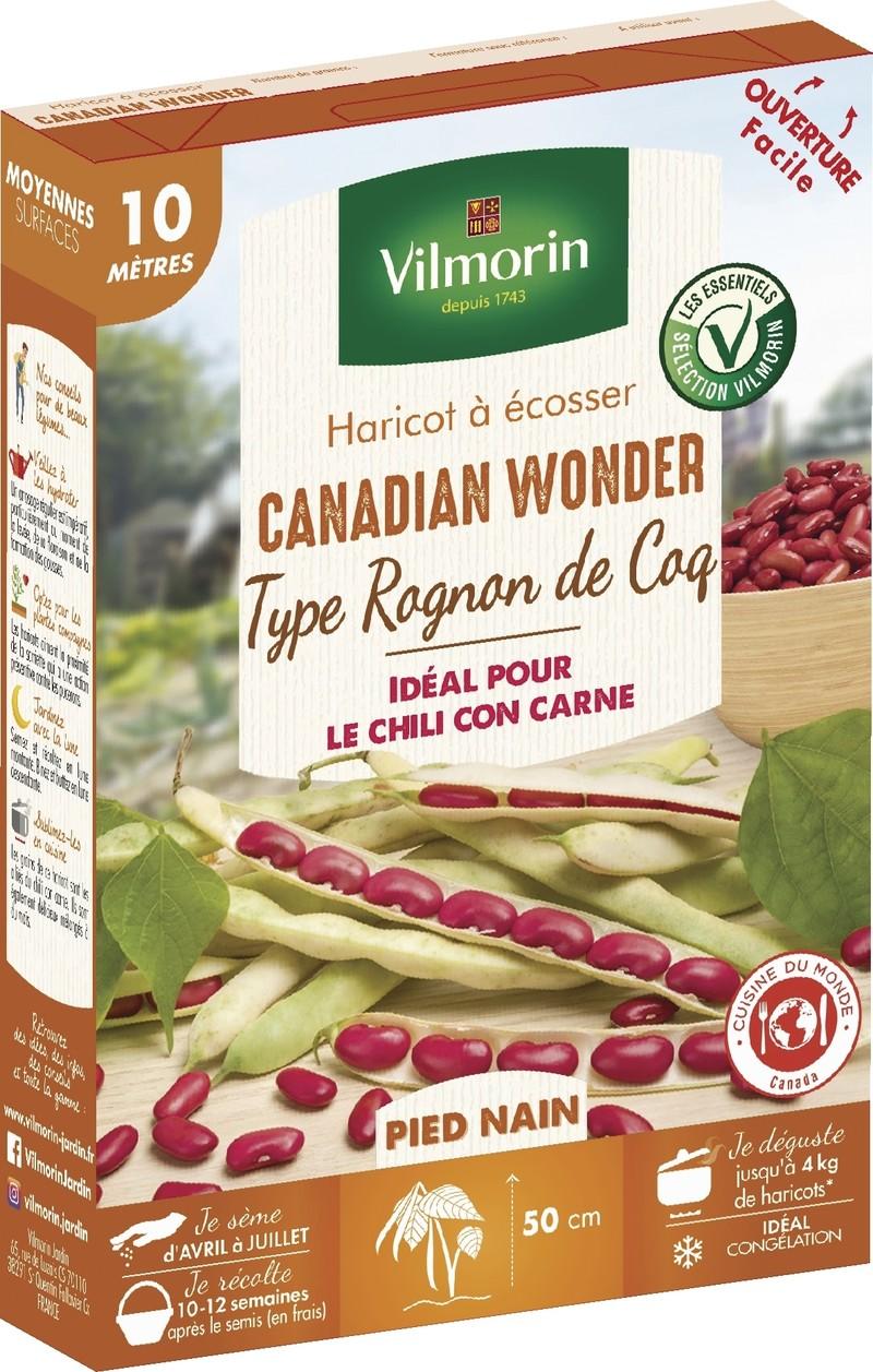 haricot nain a ecosser canadian wonder type rognon de coq vilmorin graine semence potager boite - Voir en grand