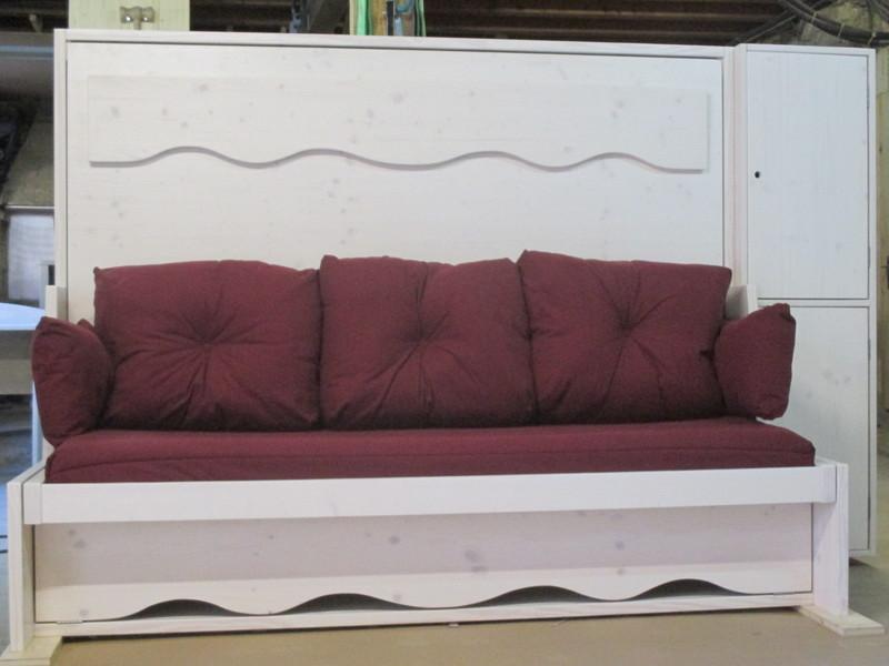 lit relevable ou lit armoire horizontal 32 - Lit relevable, lit armoire - VERCORS LITERIE  - Voir en grand
