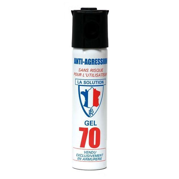 bombe lacrymogène bombe de défense gel cs 75 ml produit chimique contre les individus - Voir en grand