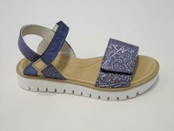 Sandale ouverte bleu