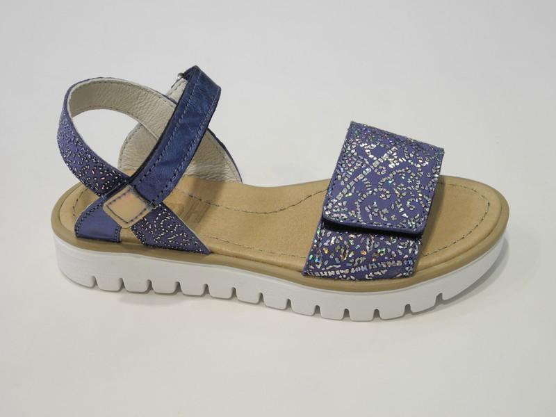 Sandale ouverte bleu - Voir en grand