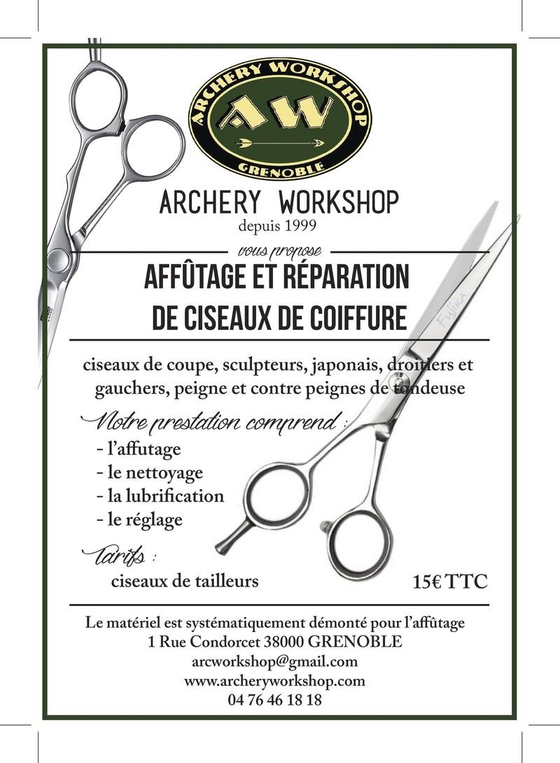 Affutage ciseaux coiffure - AFFUTAGE - ARCHERY WORKSHOP (AW) - Voir en grand