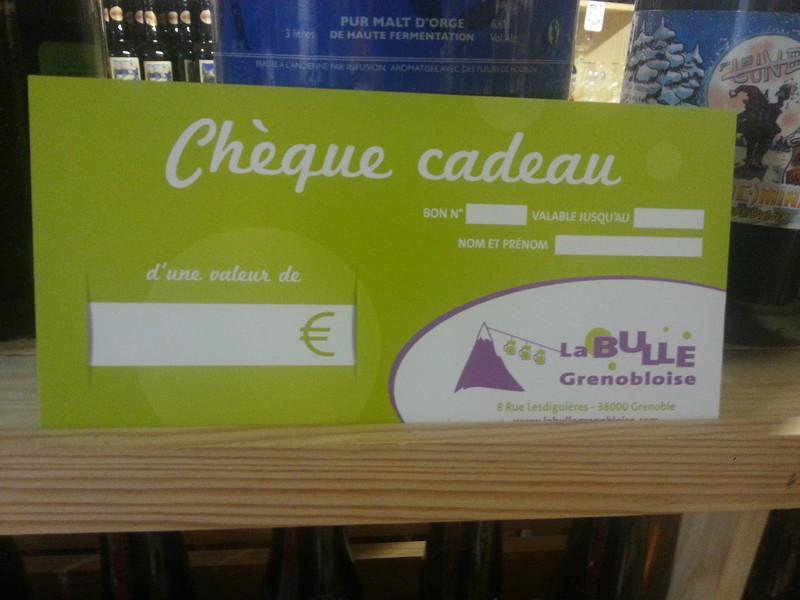 Le chèque cadeau Bulle Grenobloise - Chèque cadeau - La bulle grenobloise - Voir en grand