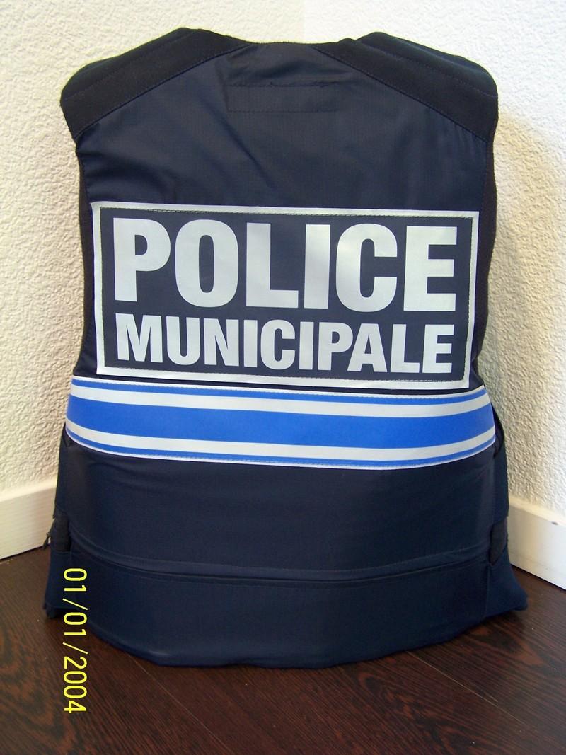 gilet pare balles gk protection classe 3a taille xl occasion marquage police municipale 3 bandes - Voir en grand
