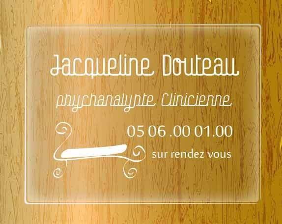 Decoupe de lettre adhésif, decoration vitrine, cabinet médical publicitaire, France - Voir en grand