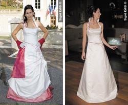 robe de marie grenoble modulable GALAXIEL isere - Les robes de mariée, robes de soirée - Création Signé Edith  - Voir en grand