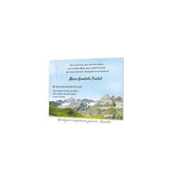 Montagne la Vanoise, CARTE REMERCIEMENT DECES, condoléances, imprimerie  amalgame grenoble - Voir en grand