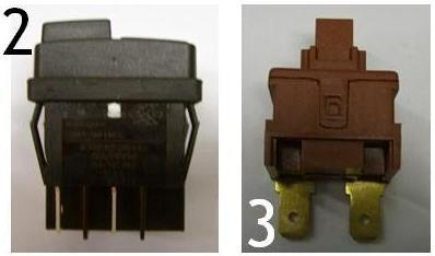Interrupteur Polti pour nettoyeur vapeur polti ou centrale vapeur potli - Voir en grand