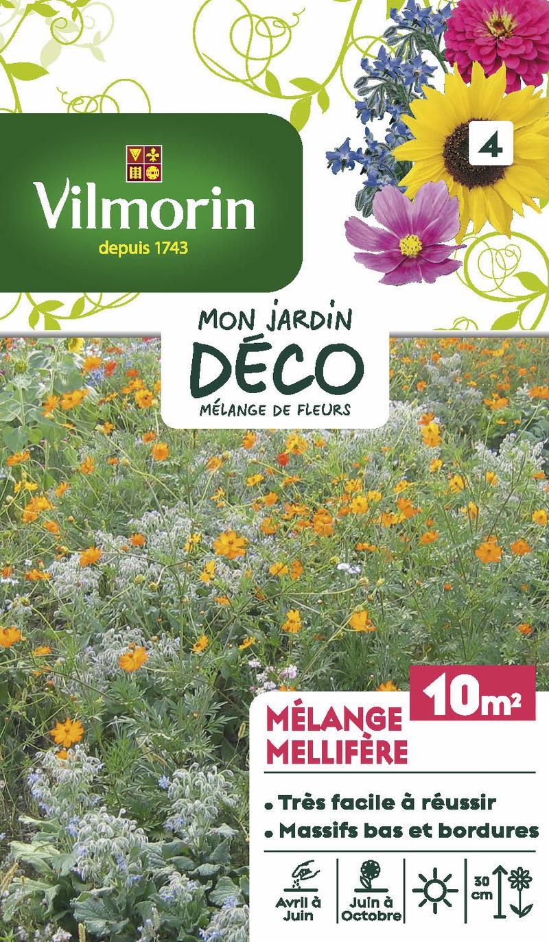 melange mellifere mon jardin deco vilmorin graine semence melange massif - Voir en grand