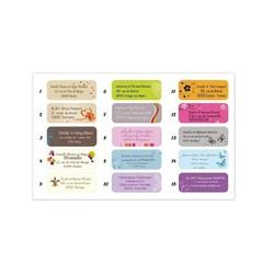 etiquette adresse adhésive, 15 design, amalgame imprimeur graveur grenoble - Voir en grand