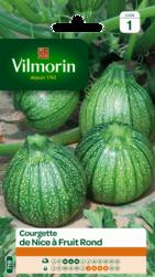 courgette de nice a fruits ronds vilmorin graine semence potager semis sachet - Voir en grand