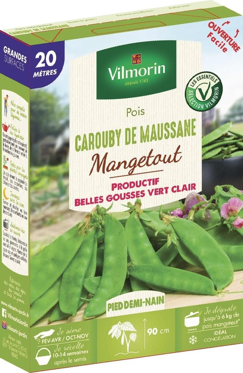 poin demi nain mangetout carouby de maussane vilmorin graine semence potager boite semis - Voir en grand
