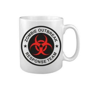 mug zombie outbreak response team tasse kombat tactical blanc noir et rouge pas cher - Voir en grand