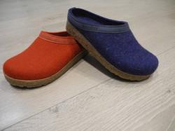 Haflinger : chaussons sabots en laine - Voir en grand