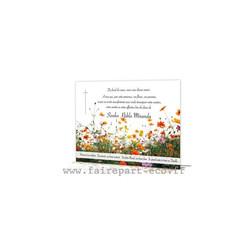 Prairie Fleurs sauvages, carte de décès, de condoléances, amalgame imprimeur grenoble - Voir en grand
