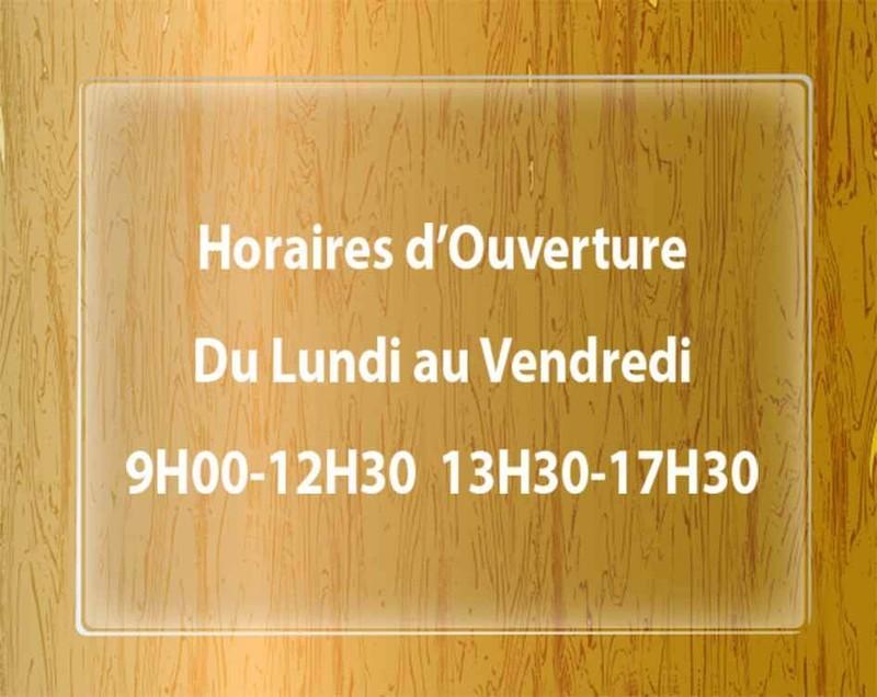 Découpe de lettre adhésif, decoration vitrine, affichage horaire, offre publicitaire, Grenoble 38000 - Voir en grand