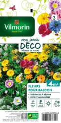 melange fleurs pour balcon mon jardin deco vilmorin graine semence melange massif