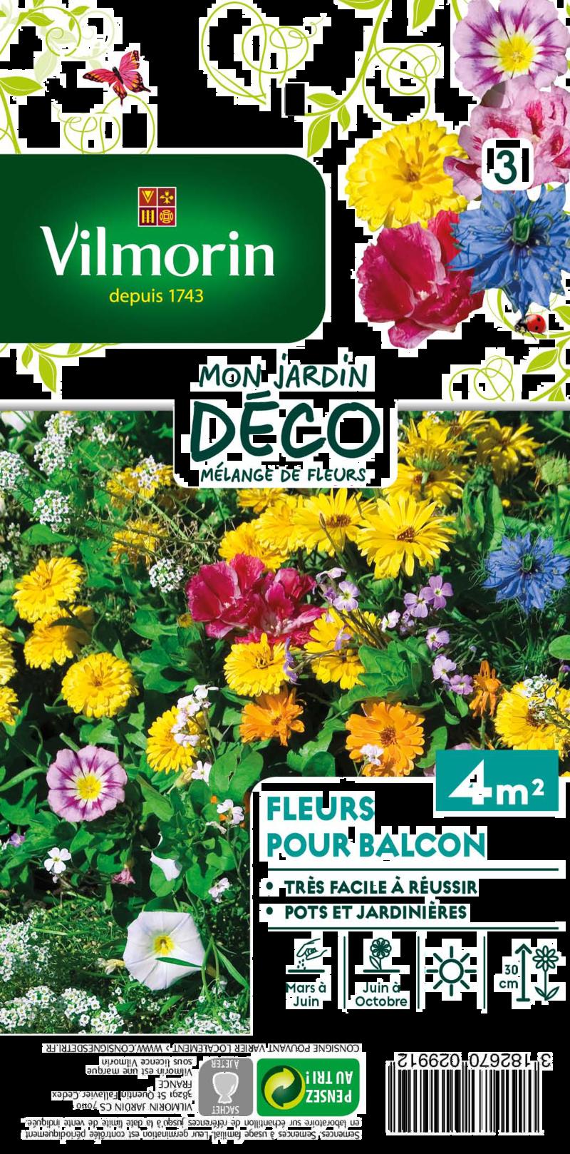 melange fleurs pour balcon mon jardin deco vilmorin graine semence melange massif - Voir en grand