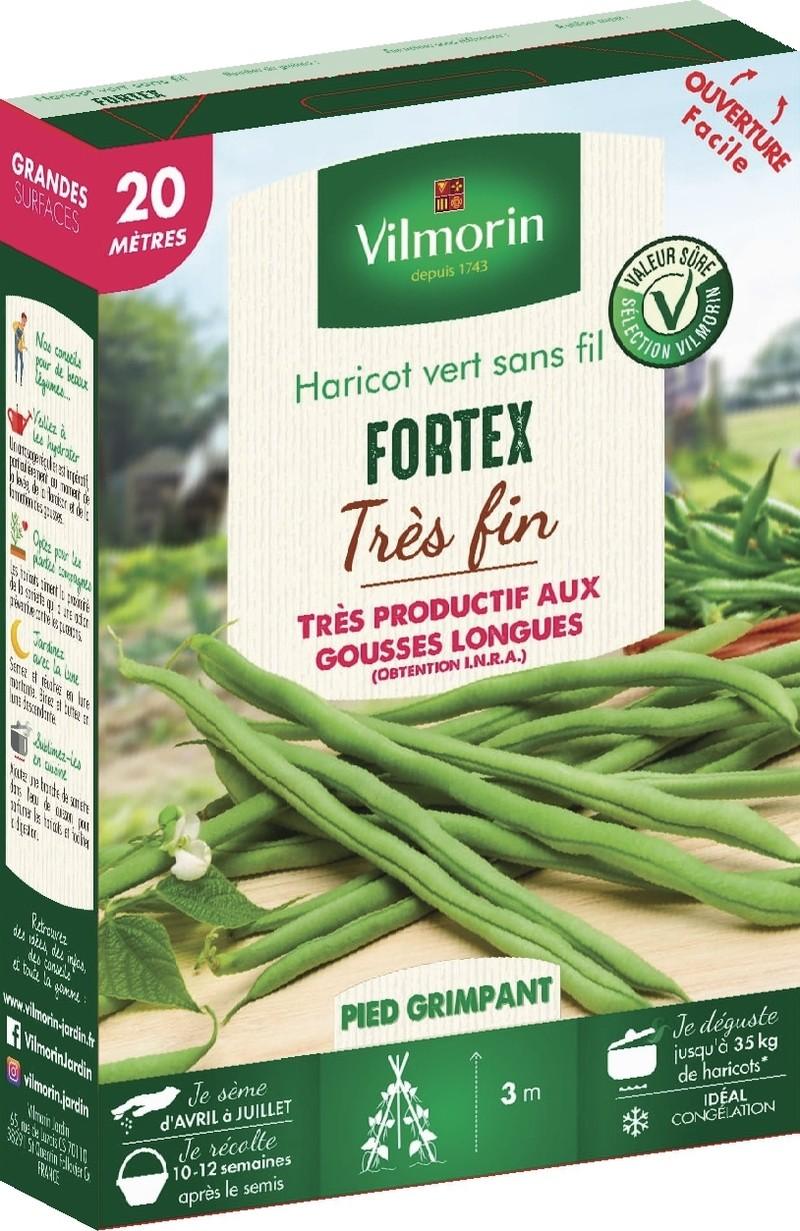 haricot a rames mangetout fortex vilmorin graine semence potager boite semis - Voir en grand