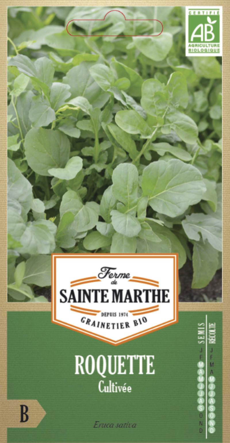 roquette cultivee bio la ferme de sainte marthe graine semence potager sachet semis - Voir en grand
