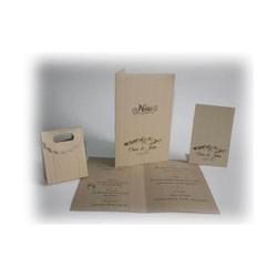 Montagne menu, Marque-place, boite dragée mariage, papier ecolo, amalgame, imprimeur à grenoble - Voir en grand