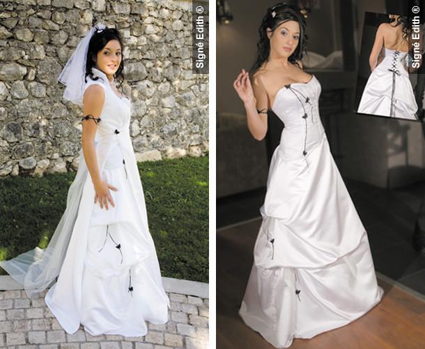 Robe de mariee avec bustier couleur