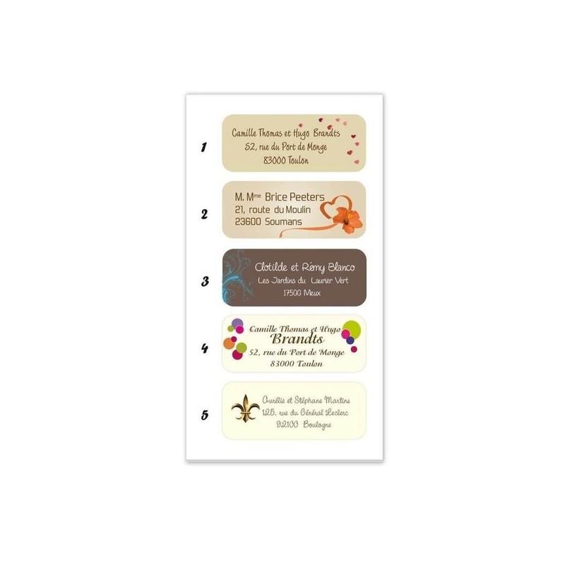 etiquette adhésive enveloppes, 15 design, amalgame imprimeur graveur grenoble - Voir en grand