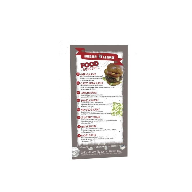 Flyer,  Burgers, BY la ronde des pizzas- Grenoble, amalgame imprimeur  - Voir en grand