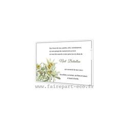 bouquet Edelweiss, remerciements deces, condoléances, deuil, amalgame imprimerie grenoble - Voir en grand