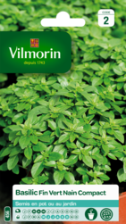 basilic fin vert nain compact vilmorin graine semence aromatique potager sachet semis - Voir en grand