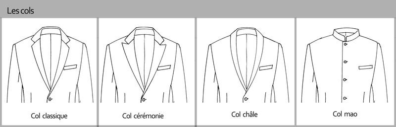 Les cols pour les costumes personnalisés signé edith a grenoble - Voir en grand