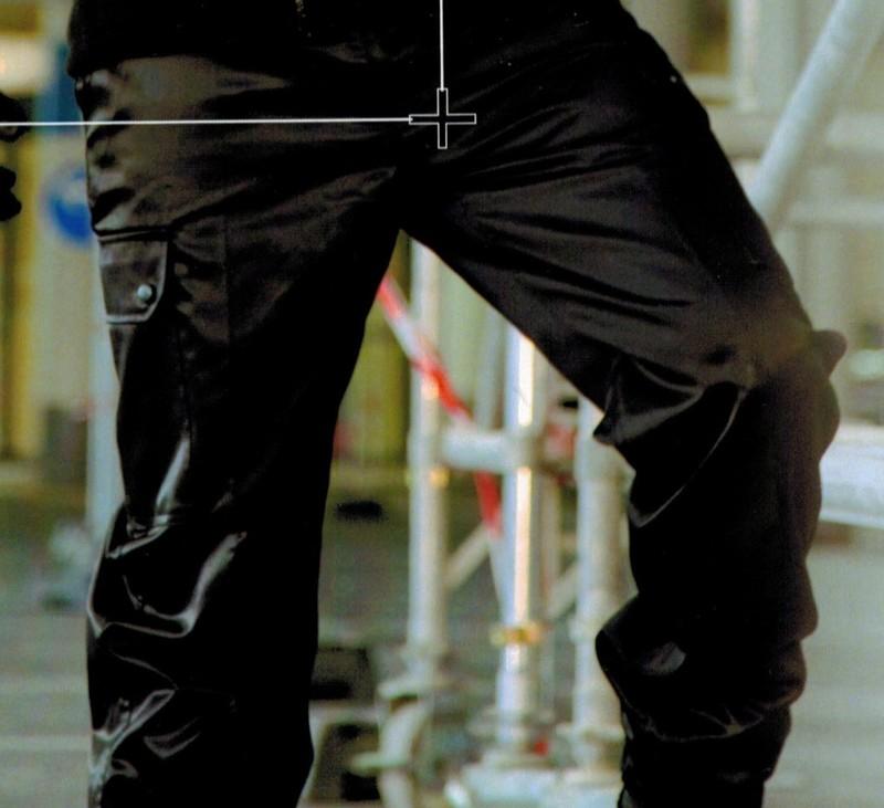 pantalon treillis noir sécurité intervention déperlant antistatique cityguard - Voir en grand