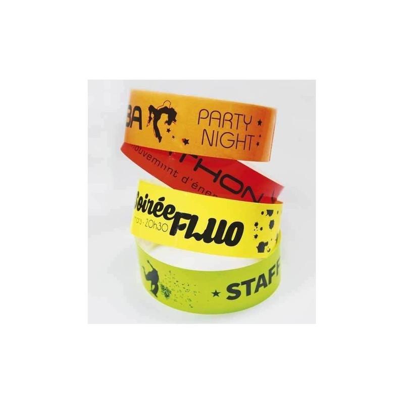 bracelet personnalisé, indechirable, impression quadri, amalgame imprimeur à grenoble - Voir en grand