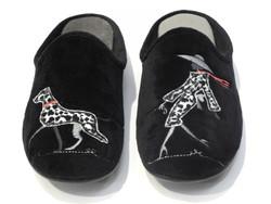 Chausson mule : Dalmatien  par la maison de l'espadrille - Chaussons pour enfants et adultes - BAMBINOS - Voir en grand