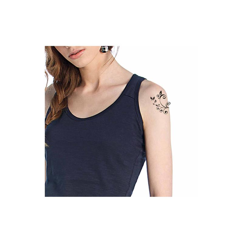 Tatouage temporaire, grenoble, design, arabesque envol papillon, amalgame graveur grenoble - Voir en grand