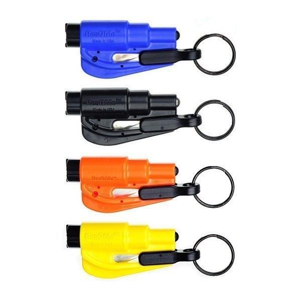 porte clé brise vitre coupe ceinture resqme compact efficace accessoire secourir détresse pas cher - Voir en grand