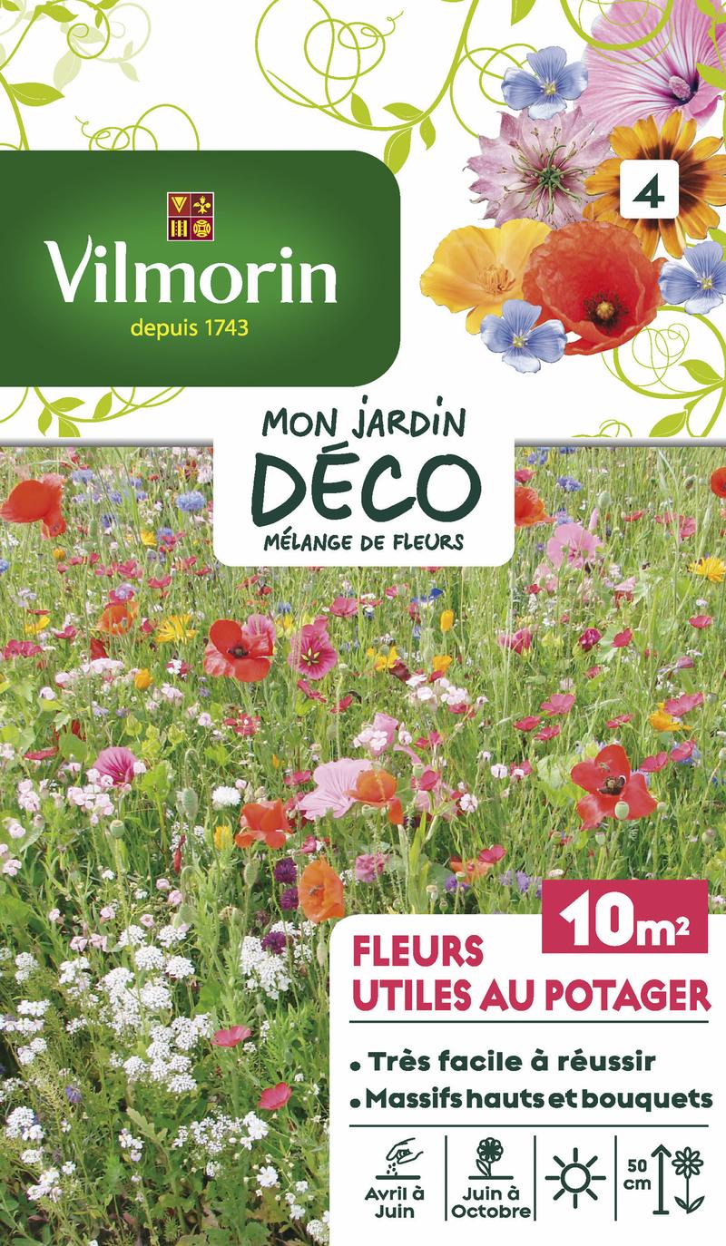 melange fleurs utiles au potager mon jardin deco vilmorin graine semence melange massif - Voir en grand