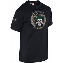 t.shirt special forces summit outdoor tee-shirt 100% coton noir pas cher col rond army design aernes