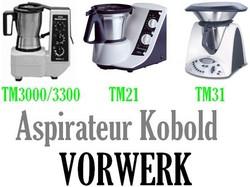 Pièces détachées et Accessoires des robots Thermomix TM3000/VK3300, TM21, TM31 Vorwerk  - Voir en grand