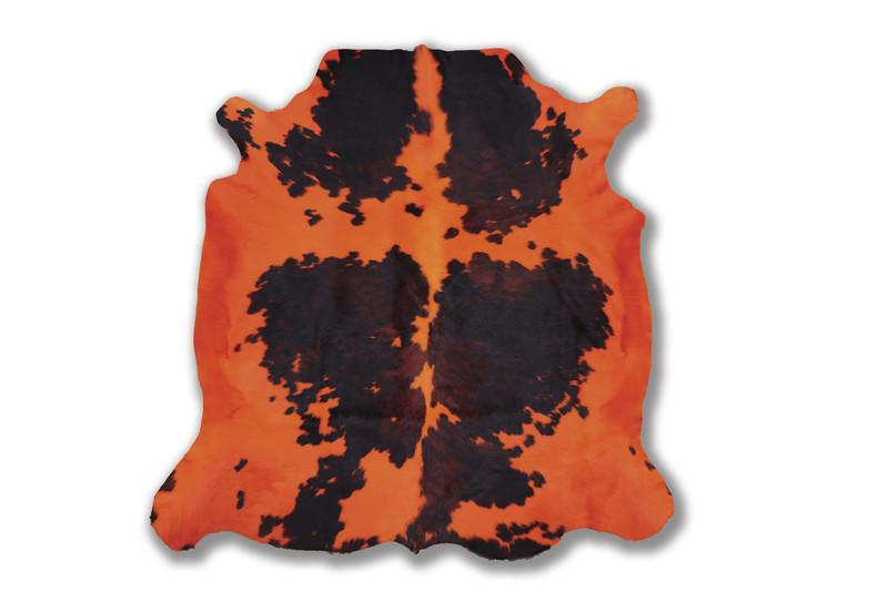 Peau de vache orange - Peaux de vache et tapis - La Petite Boutique - Voir en grand