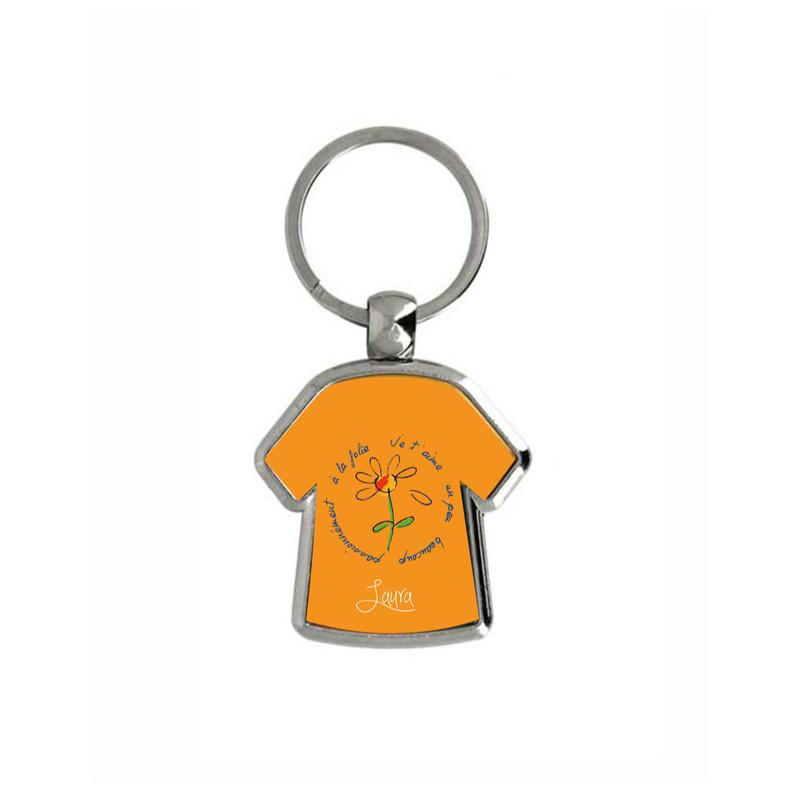 Porte cle t-shirt en metal publicitaire, maillot sportif, graveur amalgame grenoble - Voir en grand
