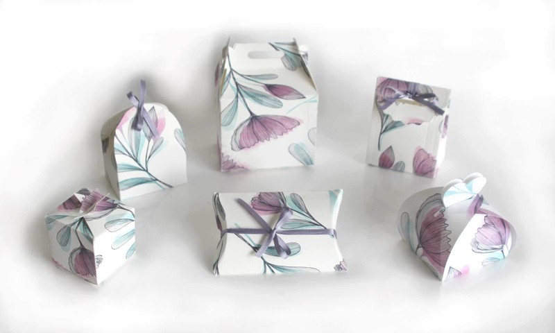 Boîte à dragées imprimé décor fleurs  | Cosmos - BOITE A DRAGEES - Amalgame imprimeur-graveur - Voir en grand