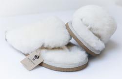 Tongs laine - Mules peau et laine - La Petite Boutique