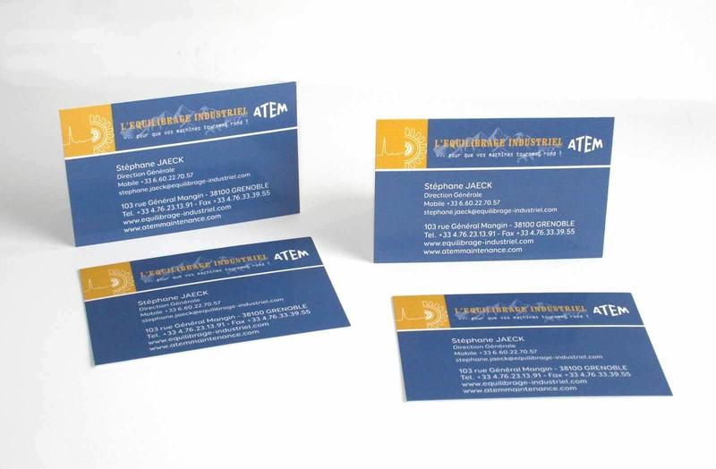 ATeM Industrie Grenoble Carte De Visite Professionnelle Creation Graphique Amalgame Imprimeur