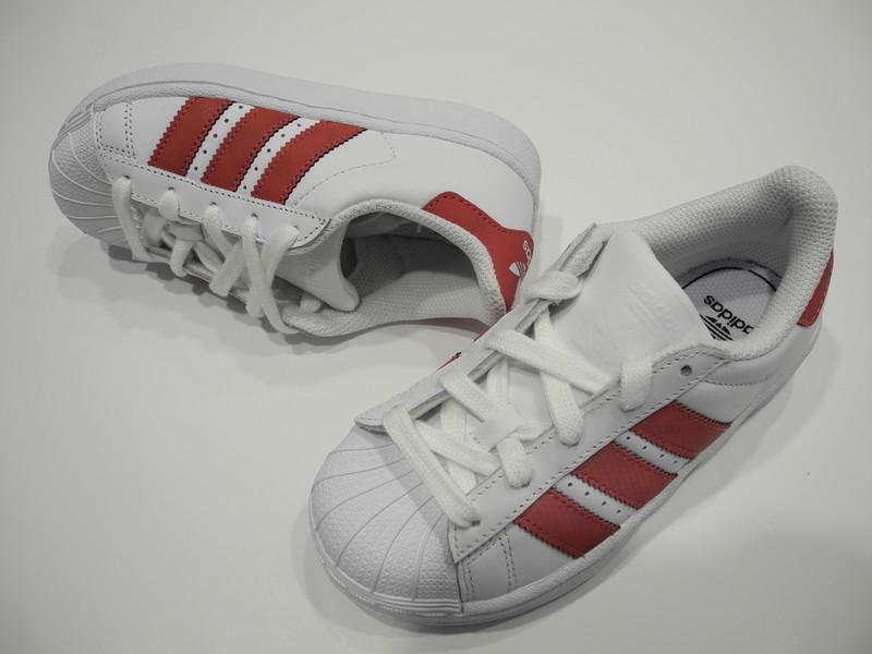 Chaussure Adidas blanc/rose - Voir en grand